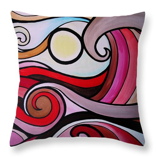 Mexican Throw Pillow featuring the painting Waves by Pristine Cartera Turkus