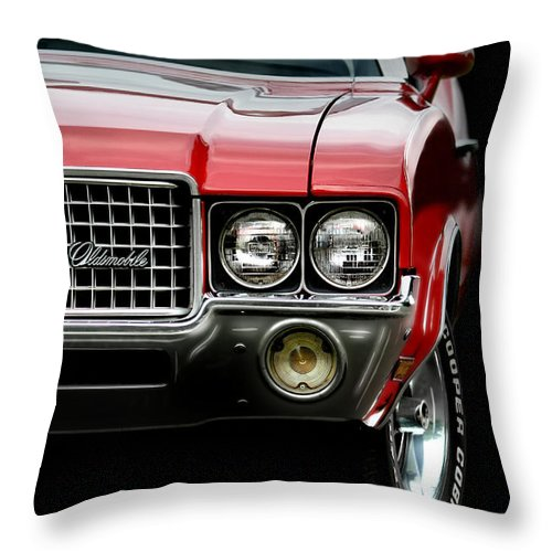 72 Olds Cutlass Throw Pillow featuring the photograph 72 Olds Cutlass by Gary Yost