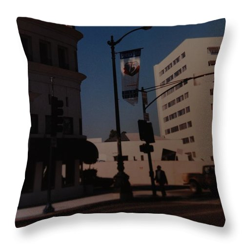 Hollywood California Throw Pillow featuring the photograph 75th Hollywood by Rob Hans