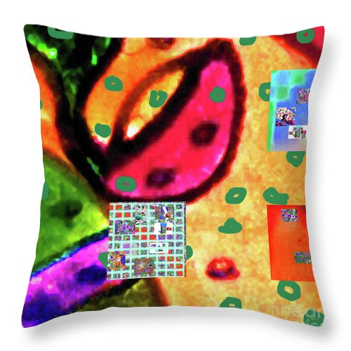 Walter Paul Bebirian Throw Pillow featuring the digital art 8-3-2015cabcdefghijklmnopqrtuvwxyzabcdef by Walter Paul Bebirian