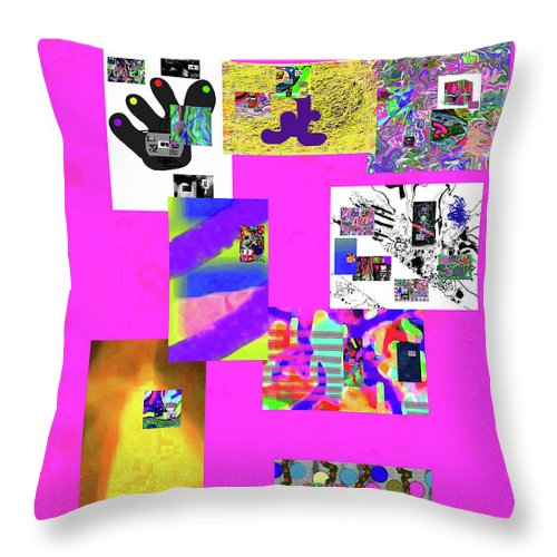 Walter Paul Bebirian Throw Pillow featuring the digital art 8-8-2015babcdefghijklmnopqrtuvwxyzabcd by Walter Paul Bebirian