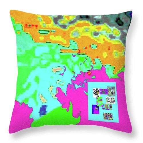 Walter Paul Bebirian Throw Pillow featuring the digital art 8-9-2015babcde by Walter Paul Bebirian