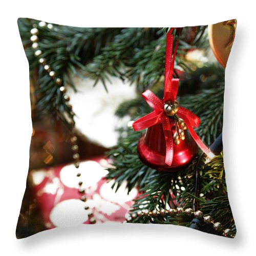 Christmas Throw Pillow featuring the photograph Christmas Tree Decorations by Mal Bray