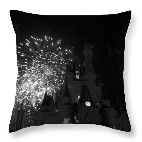 Walt Disney World Throw Pillow featuring the photograph Cinderella Castle by Rob Hans