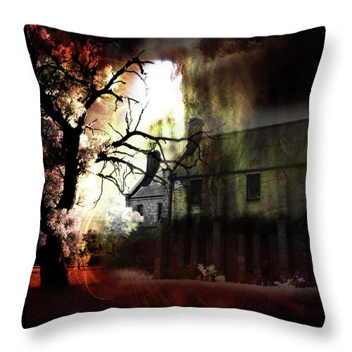 Ghost Throw Pillow featuring the digital art 8 Ghosts by Phill Petrovic