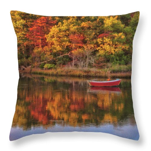 Autumn Throw Pillow featuring the photograph Autumn Reflection by JAMART Photography
