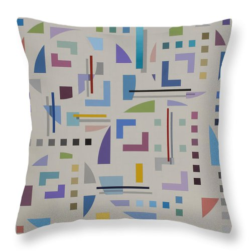 Optical Illusion Geometric Painting Throw Pillow featuring the painting Untitled 8 by Marston A Jaquis