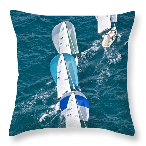 Key Throw Pillow featuring the photograph Key West Race Week by Steven Lapkin