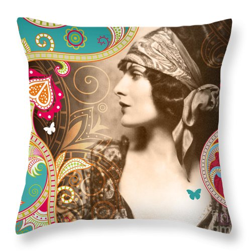 Nostalgic Seduction Throw Pillow featuring the photograph Goddess by Chris Andruskiewicz