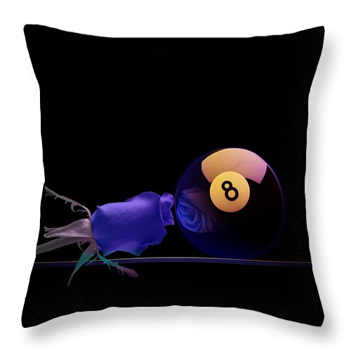Pool Throw Pillow featuring the digital art 8blues by Draw Shots