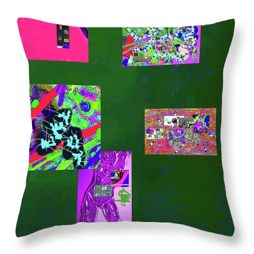 Walter Paul Bebirian Throw Pillow featuring the digital art 9-12-2015c by Walter Paul Bebirian