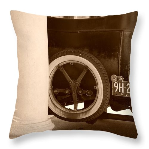 Sepia Throw Pillow featuring the photograph 1926 Model T Ford by Rob Hans