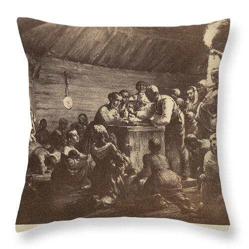 1863 Throw Pillow featuring the photograph Emancipation Proclamation by Granger