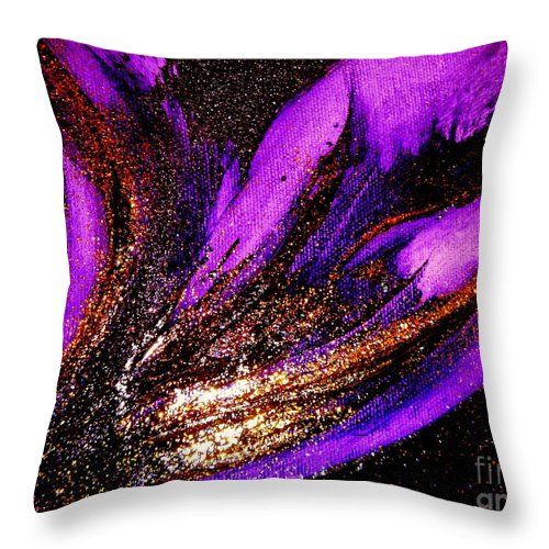 Energy Throw Pillow featuring the painting Energy by Kumiko Mayer