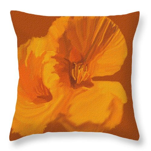 Still Life Throw Pillow featuring the painting Still Life by Catherine