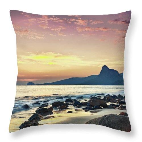 Sunrise Throw Pillow featuring the photograph Sunrise by MotHaiBaPhoto Prints
