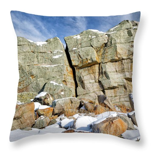 Alberta Throw Pillow featuring the photograph The Big Rock by Roderick Bley