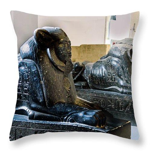 Egyptian Museum Of Antiquities Throw Pillow featuring the photograph The Egyptian Museum Of Antiquities - Cairo Egypt by Jon Berghoff