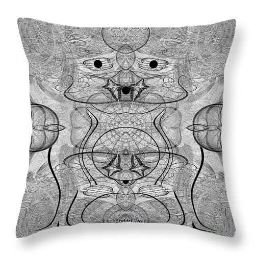 990 Throw Pillow featuring the digital art 990 - The Hulk 2017 by Irmgard Schoendorf Welch