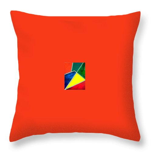 Primary And Sondary Colors Throw Pillow featuring the painting 99870 Colors by Andrew Johnson