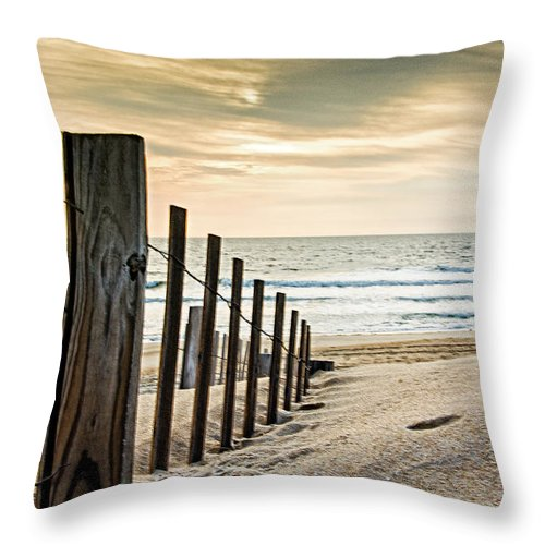 Landscape Throw Pillow featuring the photograph A Beach Morning by Rob Narwid