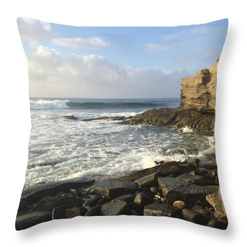 Beach Throw Pillow featuring the photograph A Beautiful Evening by Bethany Morrow