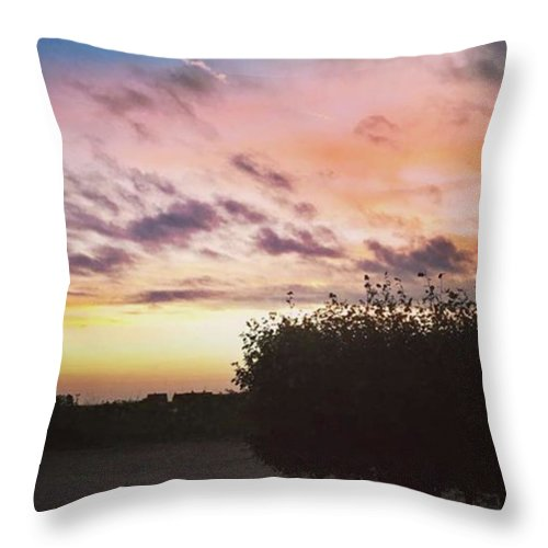 Norfolklife Throw Pillow featuring the photograph A Beautiful Morning Sky At 06:30 This by John Edwards