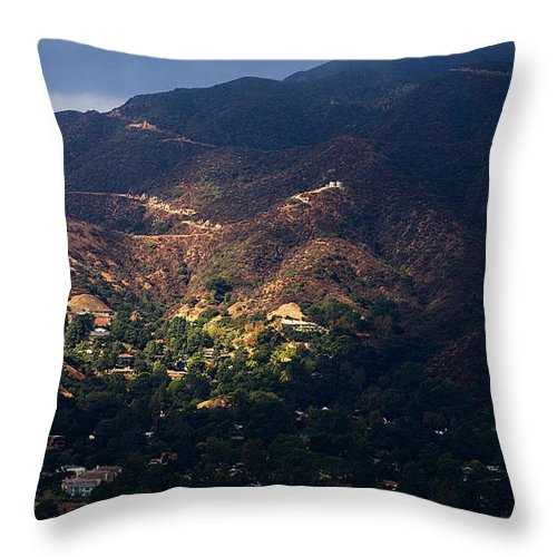 Clay Throw Pillow featuring the photograph A Break In The Clouds In Southern California by Clayton Bruster