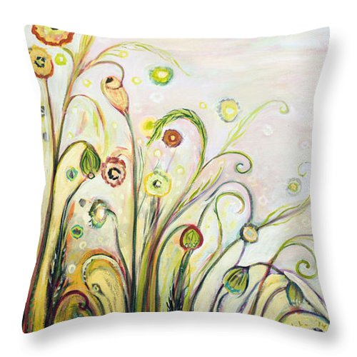 Landscape Throw Pillow featuring the painting A Breath Of Fresh Air by Jennifer Lommers