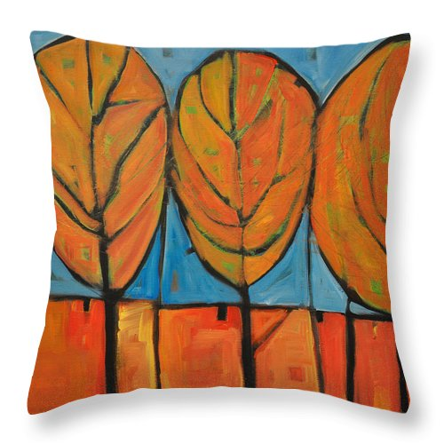 Fall Throw Pillow featuring the painting A Change Of Seasons by Tim Nyberg