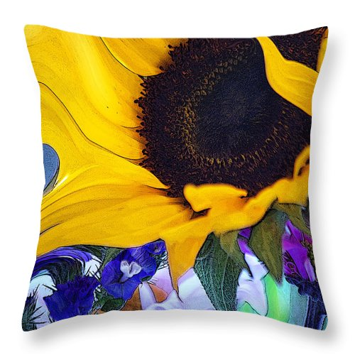 Flowers Throw Pillow featuring the photograph A Childs Mind... by Arthur Miller