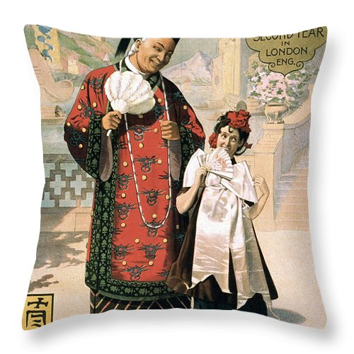 1902 Throw Pillow featuring the photograph A Chinese Honeymoon by Granger