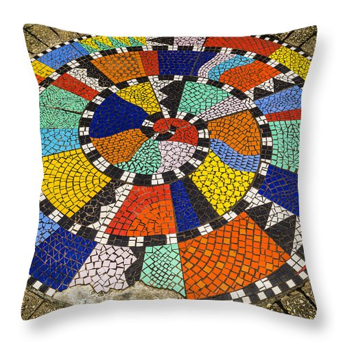 Mosaic Throw Pillow featuring the photograph A Chip Off The Ole Mosaic by Craig David Morrison