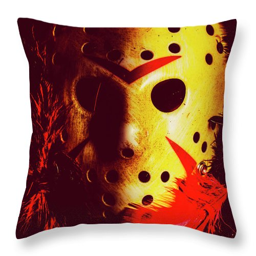 Halloween Throw Pillow featuring the photograph A Cinematic Nightmare by Jorgo Photography - Wall Art Gallery