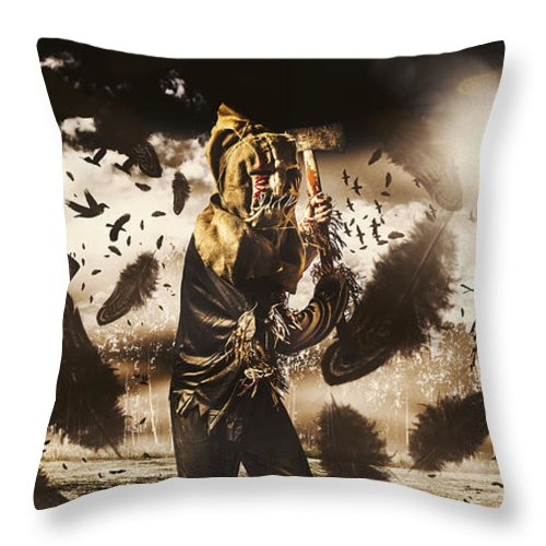 Crows Throw Pillow featuring the photograph A Crow Left Of The Murder by Jorgo Photography - Wall Art Gallery
