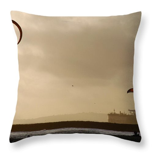 Clay Throw Pillow featuring the photograph A Day At The Beach by Clayton Bruster