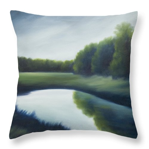 Clouds Throw Pillow featuring the painting A Day In The Life 2 by James Christopher Hill