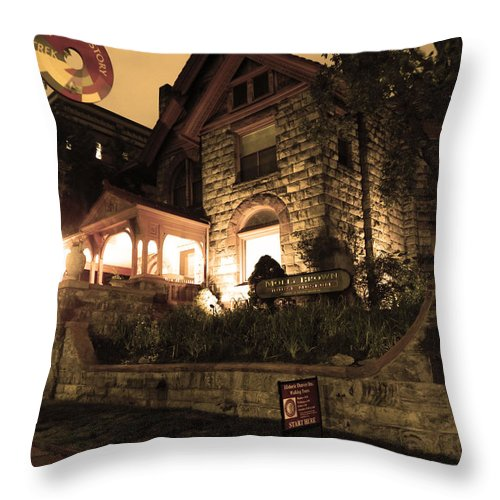 Molly Brown House Throw Pillow featuring the photograph A Denver Haunting by Jessica Harrington