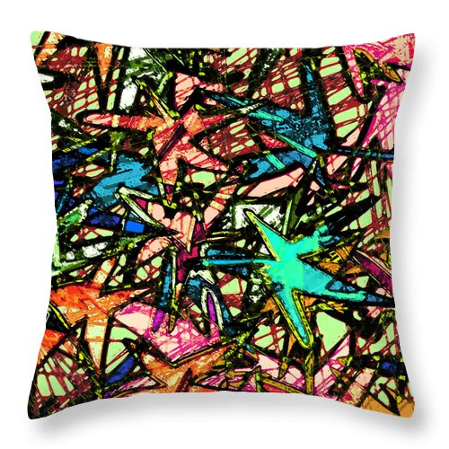 Abstract Throw Pillow featuring the digital art A Dream Shattered by Rachel Christine Nowicki