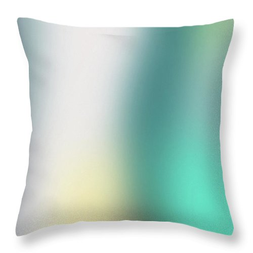 Abstract Throw Pillow featuring the mixed media A Fleeting Glimpse 2- Art By Linda Woods by Linda Woods
