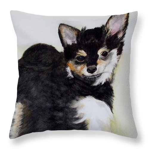 Dog Throw Pillow featuring the painting A Friend With A Smile by Thomas Taylor
