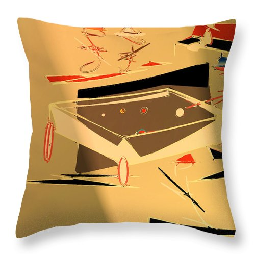 Abstract Throw Pillow featuring the digital art A Friendly Game 2 by John Krakora