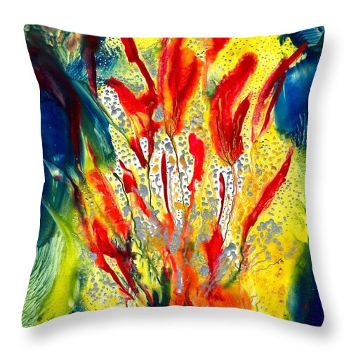 Healing Throw Pillow featuring the painting A Gateway To Americo Healing by Heather Hennick