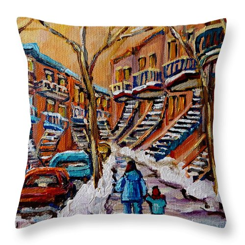 Montreal Throw Pillow featuring the painting A Glorious Day by Carole Spandau