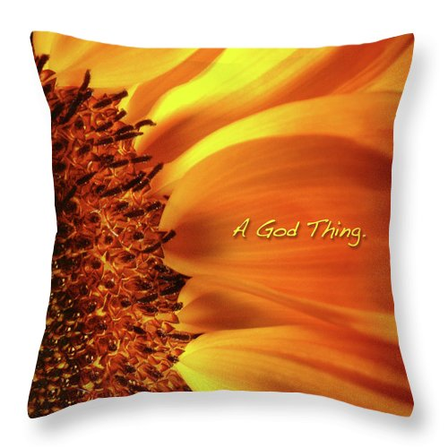Sun Flowers Throw Pillow featuring the photograph A God Thing-2 by Shevon Johnson
