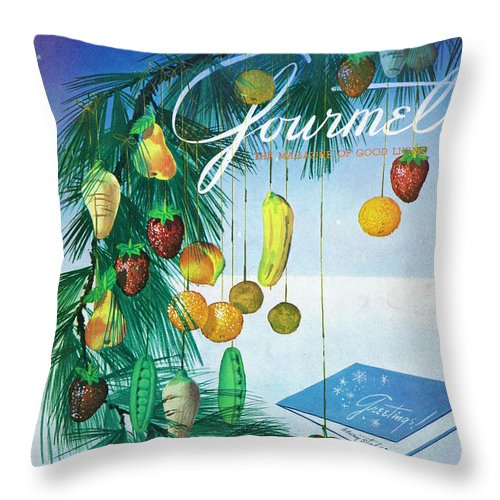 Food Throw Pillow featuring the photograph A Gourmet Cover Of Marzipan Fruit by Henry Stahlhut