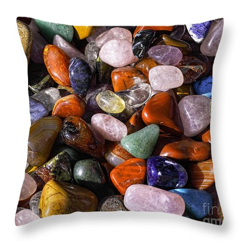 Colors Throw Pillow featuring the photograph A Handfull Of Colors by Bridget Jones
