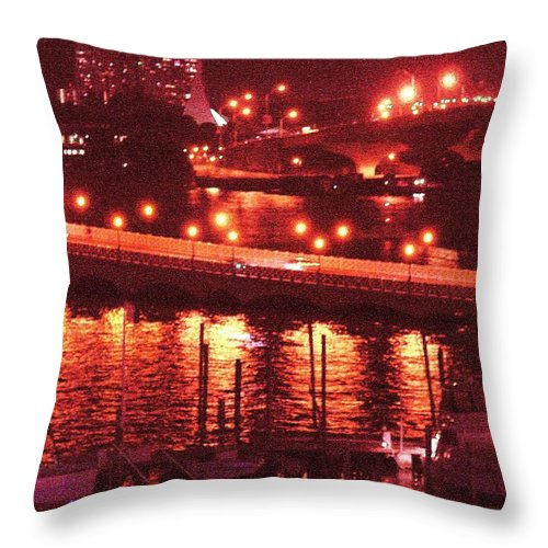 Biscayne Bay Throw Pillow featuring the photograph A Hot Night On Biscayne Bay by Margaret Bobb