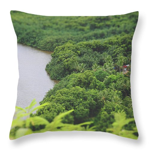 Wailua River Throw Pillow featuring the photograph A Jungle Story by Laurie Search