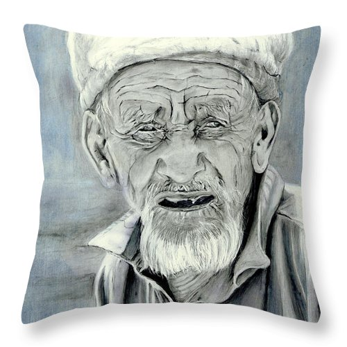 Figurative Art Throw Pillow featuring the painting A Life Time by Enzie Shahmiri